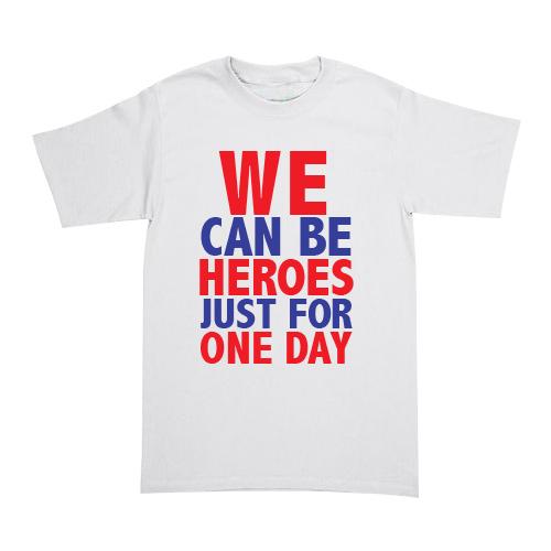 Playera David Bowie - Heroes