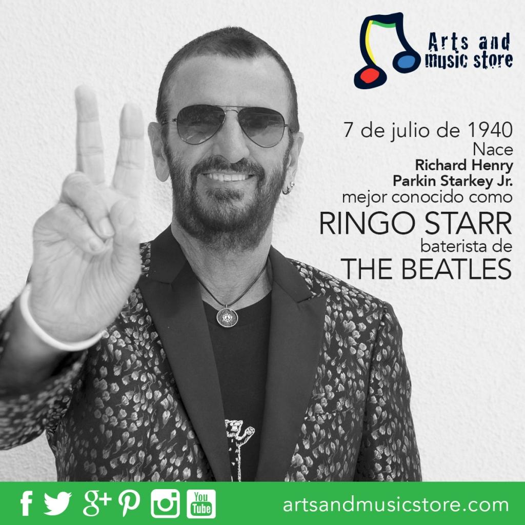 7 de julio de 1940 nace Richard Henry Parkin Starkey Jr., mejor conocido como Ringo Starr, baterista de The Beatles
