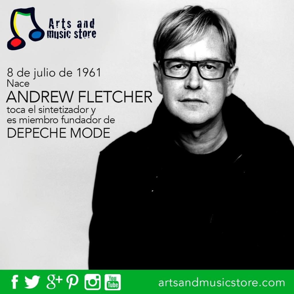 8 de julio de 1961 nace Andrew Fletcher toca el sintetizador y es miembro fundador de Depeche Mode.