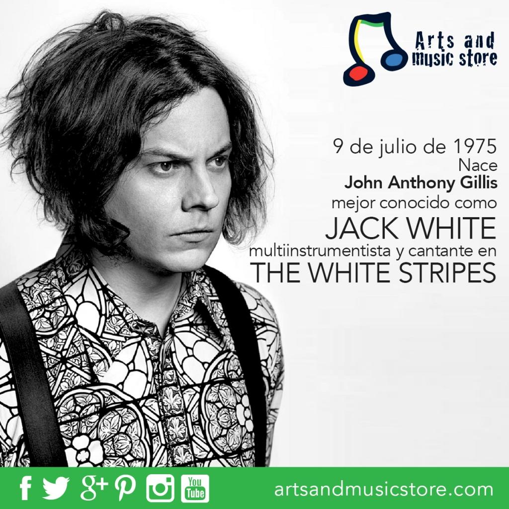 9 de julio de 1975 nace John Anthony Gillis mejor conocido como Jack White multiinstrumentista y cantante de The White Stripes.