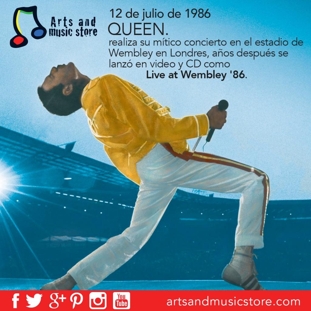 12 de julio de 1986 Queen en Wembley