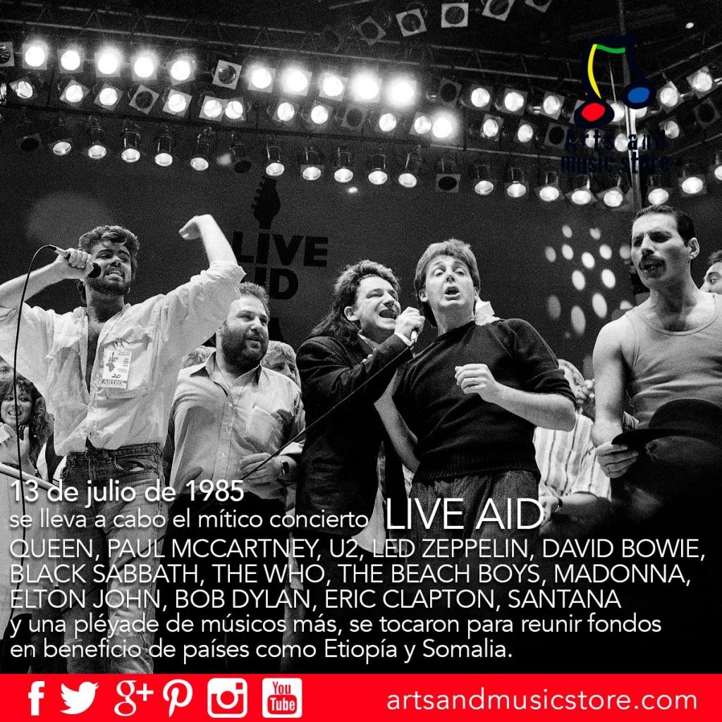 13 de julio de 1985 se lleva a cabo el Live Aid