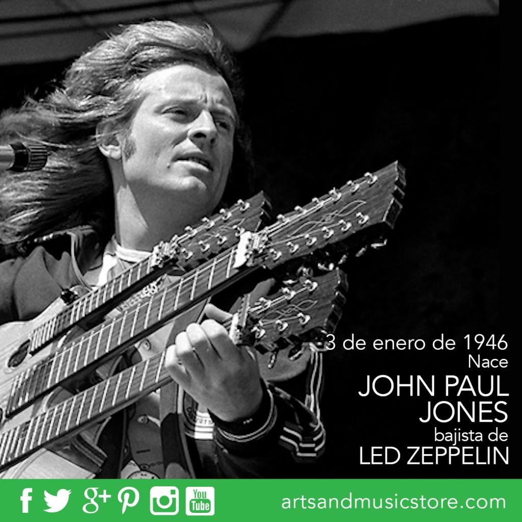 3 de enero de 1946 nace John Paul Jones, bajista de Led Zeppelin