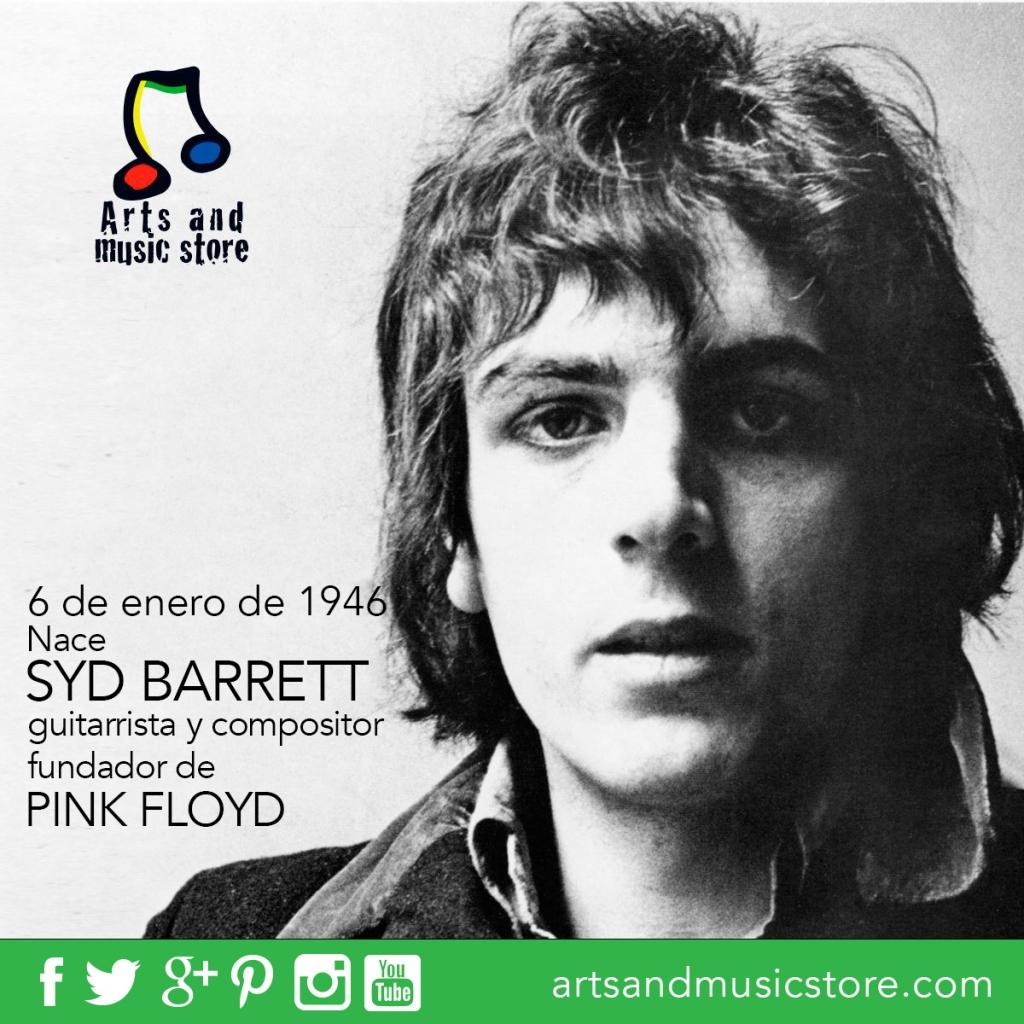 6 de enero de 1946 nace Syd Barrett, guitarrista y compositor  fundador de Pink Floyd