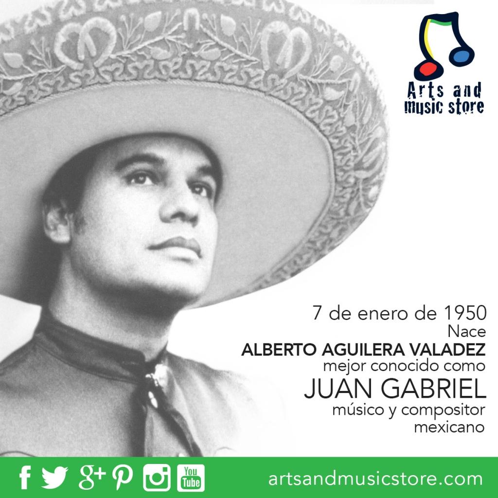 7 de enero de 1950 nace Juan Gabriel, músico y compositor mexicano